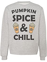 Pumpkin Spice And Chill Two Tasty Coffee Cups Design Sudadera Unisex