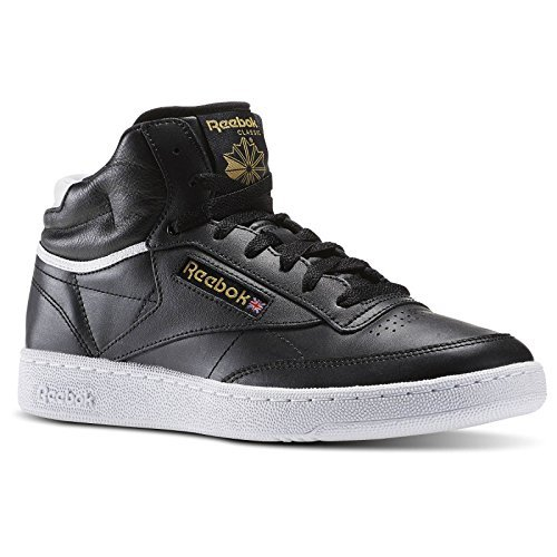 REEBOK Baskets Club C 85 Mid Cuir Chaussures Homme 39 - Taille - 39 Noir