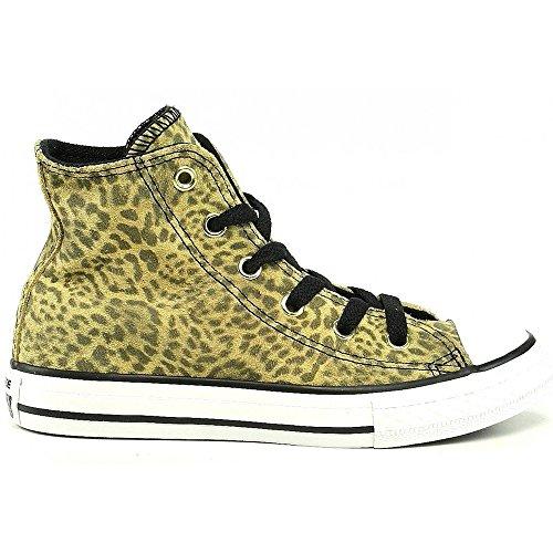 Converse, Chuck Taylor All Star Junior Animal HI, Sneaker, Ragazza Leopard