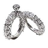 2PCS wunderschöne Design ringent Damen Silber Ringe handgemachte Mädchen Ring Modeschmuck Zubehör Valentines Geschenk