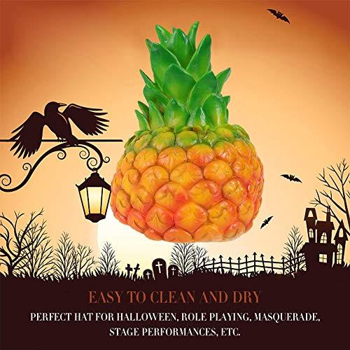 Halloween Kostüm Ananas - Sensecrol Halloween Kostüm Ananas Mütze Rollenspiel Hut Halloween Kostüm Zubehör für Holiday Halloween Party Masquerade Bühnenauftritte