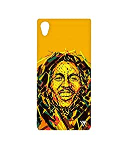 Vogueshell Graffiti Bob Marley Printed Symmetry PRO Series Hard Back Case for Sony Xperia M4 Aqua