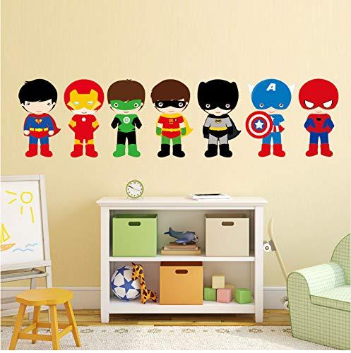 51cwkk8krkL - Varios Superhéroes Los Vengadores Pegatinas De Pared Para Niños Habitación Decoración Del Hogar Diy Calcomanías Mural De Dibujos Animados Pvc Arte Cubierta De Impresión Cartel