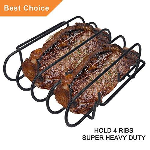 KALREDE in Acciaio Inox Grill Topper Pan/ Manico in Silicone Brush-BBQ Accessori /Set di Cibo Tong