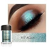 Highlighter Lidschatten , Yogogo 1 Cent Artikel Eyeliner | Focallure 18 Farben Augenschatten Makeup | Perle Metallic Lidschatten Palette (17#)