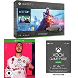 Microsoft Xbox One X, schwarz - Battlefield V Gold Rush Special Edition Bundle + FIFA 20 + Game Pass Ultimate 3 Monate