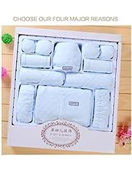 SHISHANG Set de 20 piezas Baby Gift Set Caja de regalo Boy Girl Baby Gifts para 0-6Months Recién nacido 100% algodón Cuatro Estaciones Gift Bag Full Moon Gift Box , 1