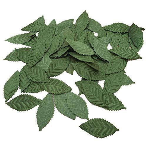 Supvox Künstliche seide blatt diy party dekoration girlande gefälschte grüne blatt 100 stücke grün