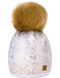 b013dbb816e7 MFAZ Morefaz Ltd Filles Chapeau D hiver Beanie Bonnet Chapeaux De Ver Fille  Enfants Avec
