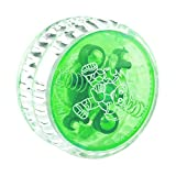 #3: Beyove Plastic Auto-Return Light up YoYo Balls, Professional Auto-Return Yo Yos with String for Children Kids Adult Toys (Green)