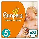 Pampers Sleep & Play Windeln Gr. 5 (11-23 kg), Einfach trocken, 1er Pack (1 x 31 Stück)