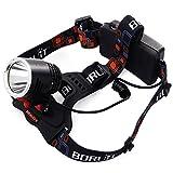 LED CREE XM-L2 Faro Delantero Lámpara de Linterna Headlight Luz de Bicicleta Ciclismo Senderismo Foco Trabajo Bombillas 3-Mode Recargable + 18650 Bate