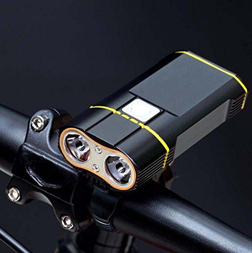 Luces de bicicleta USB Juego de luces de bicicleta recargable Luces de...