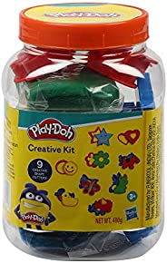 Play-Doh Creative Kit in a Jar Arts and Crafts Toy for Kids 3 Years and Up with 4 Pouches of Non-Toxic Play-Do