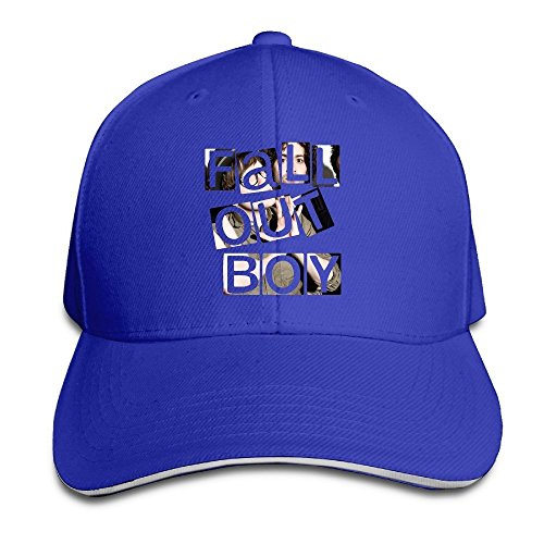 Hittings Fall Out Boy Sandwich Peaked Hat/Cap RoyalBlue Fall Out Boy-cap