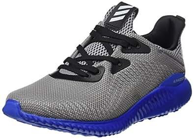 adidas unisex alphabounce j grigio, blu e scarpe da ginnastica clonics 5 uk