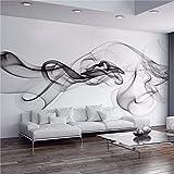 YWYWYWYW Benutzerdefinierte Fototapete Moderne 3D Wandbild Tapete Schwarz Weiß Rauch Nebel Kunst Design Schlafzimmer Büro Wohnzimmer Tapeten,190Cm(H)×270Cm(W)