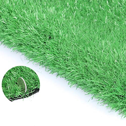 Jinxiaobei Gräser Outdoor Kunstrasen Realistischer Kunstrasen-Teppich for den Innenhof Realistischer Kunstrasen-Teppich Premium Kunstrasen, Hellgrün, Stärke: 30mm (Color : 30mm, Size : 0.5mX2m) (Outdoor-gras Dach)