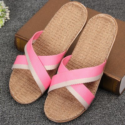 LEPAKSHI 11, 6 : 2016 Spring and summer home flax slippers female slippers sandals heavy-bottomed non-slip floor home indoor shoes