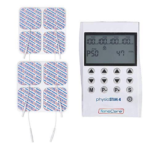TensCare Physiostim - Electroestimulador con Función Multiterapia, 4 Canales. Tens, EMS y programas...