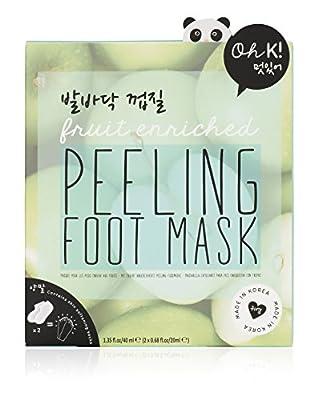 Oh K! Exfoliating Foot Mask Socks - Apple Scented Peeling Foot Mask