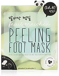 Oh K! Exfoliating Foot Mask Socks, Apple Scented Peeling