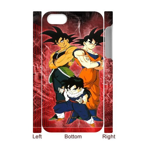 Dragon ball z super iPhone 4 4S 3D Case , Designer Personalized Custom Plastic Hard CASE for iPhone 4 4S Durable New Style ROUGH Skin 3D Case 3H758