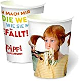 PIPPI LANGSTRUMPF - DER FILM 8 Becher Party und Kindergeburtstag // Geburtstag Party Fete Set Mottoparty Cups Pappbecher Astrid Lindgren