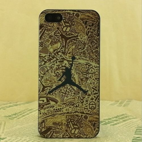 Coque en plastique rigide design Air Jordan logo saut de Michael pour iPhone 5/5.s .5se et 6/6.s, plastique, J .6, Apple iPhone 5/5s