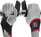 RDX Gepolsterte Cow Hide Leder Gewichtheben Training Gym Bar Handgelenk Unterstützung Handschuhe B