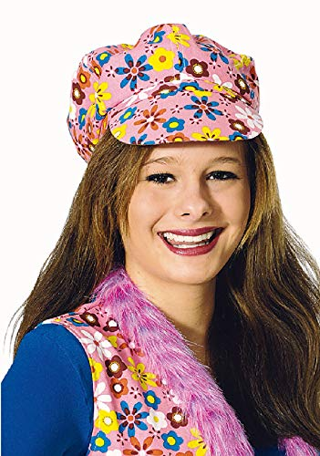 narrenkiste K10250204-A pink Kinder Damen Hippiekappe Hippymütze