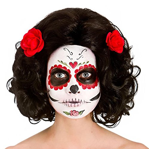 Damen Tag der Toten Senorita Perücke Halloween Fancy Dress - Tag Der Toten Kostüm Senorita