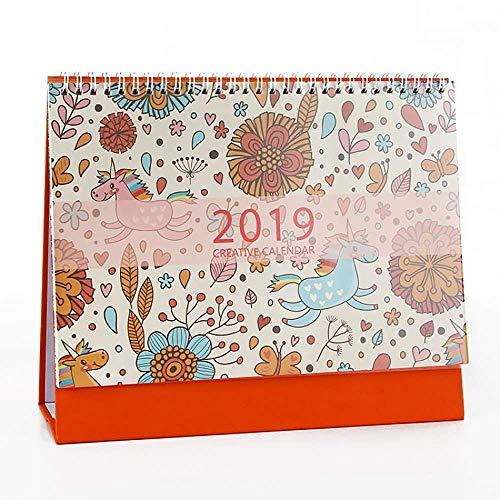 Tamumu 2018-2019 Kleiner Tischkalender Tischkalender Stehkalender mit Staffelei Style C bunt - Desktop-kalender-easel