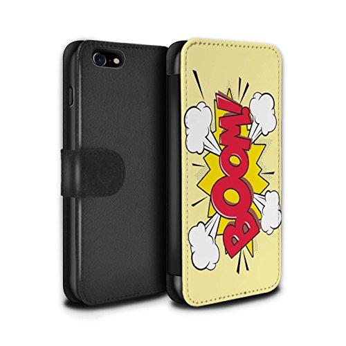 Stuff4 Coque/Etui/Housse Cuir PU Case/Cover pour Apple iPhone 7 / Krunch Design / Comics/Dessin Animé Mots Collection Boom!
