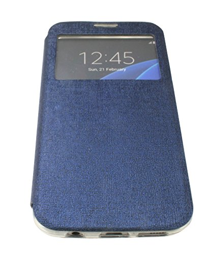 Energmix® Flip-Cover Tasche Hülle mit Sichtfenster für das für IPHONE 6 / 6S in Schwarz Wallet Book-Style Case Schale Etui Bag Zubehör @ Energmix Blau