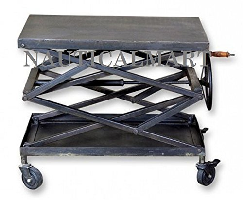 81,3cm l industriale Scissor Lift metal Table by Nauticalmart