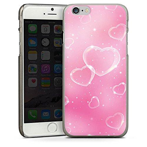 Apple iPhone 5 Housse étui coque protection C½ur Amour Amour CasDur anthracite clair
