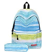 JOSEKO Student Backpack, Galaxy Pattern School Bookbag Shoulder Bag Laptop Backpack Rucksack Daypack