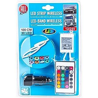 All Ride 30 LED, 100 cm, LED-Deko-Band mehrfarbig, multifunktional mit Infrarot-Fernbedienung 12/24V