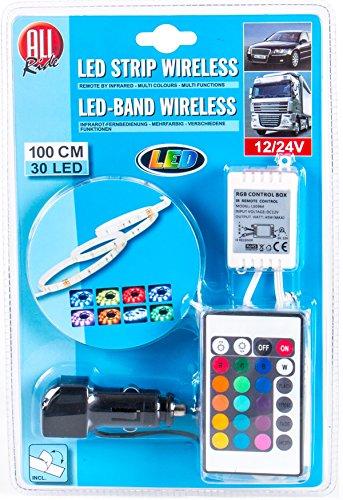 Preisvergleich Produktbild 30 LED, 100 cm, LED-Deko-Band mehrfarbig, multifunktional mit Infrarot-Fernbedienung 12/24V