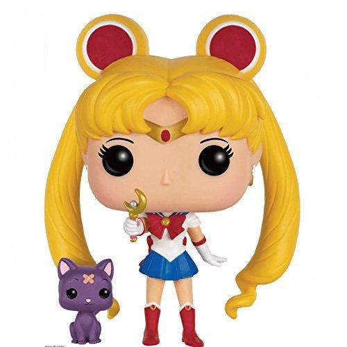 Figura de vinilo Funko POP! FK6580 de Sailor Moon de 10 cm con cetro lunar y gata Luna