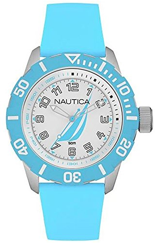 Nautica nsr-100 j-Class Womens Analogue Quartz Watch with Rubber Bracelet NAI08515G
