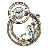 Reloj de pared tridimensional con relieve tridimensional Peacock de anillo redondo en 3D, hermoso Bird Mute Respetuoso con el medio ambiente Arte en resina Sin sonido de garrapatas Reloj de cuarzo