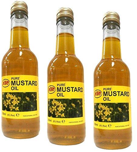 3x KTC 100% Pure Mustard Oil - Senföl 250ml (insgesamt - 750ml)