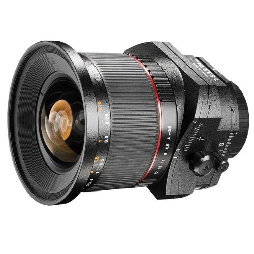 Walimex Pro 24 mm f/3.5 T-S DSLR Tilt-Shift Objektiv für Canon EF Objektivbajonett schwarz