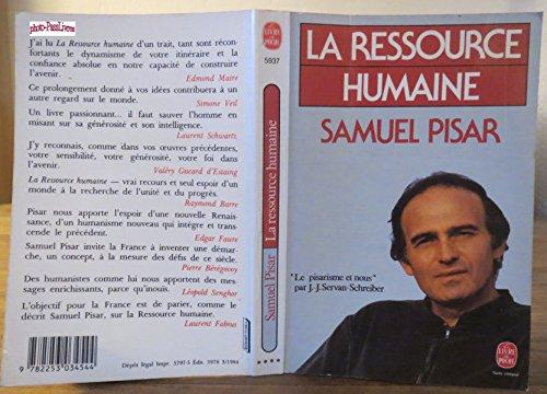 Descargar Libro La Ressource humaine de Samuel Pisar