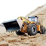 SHZJ All-Alloy Control Remoto Bulldozer RC VehíCulo De IngenieríA De Juguete 2.4G 1:14 RC Loader Tractor EléCtrico Modelo De ConstruccióN De Coche NiñOs Adultos Regalo