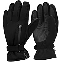 Ski Gloves, OMorc Waterproof Thinsulate Thermal Gloves, Windproof Warm Snow Ski Snowboard Snowmobile Ski Gloves for Winter Sports