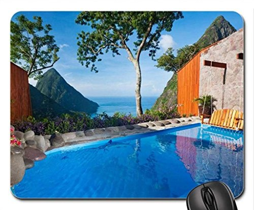 Strand Thema Gaming Mouse Pad, Deluxe Pool Cliff Mousepad Mouse Pad, Mousepads.