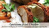 Louisiana fried Chicken – 8 Gewürze für Südstaaten-Hähnchen mit Chilie Chipotle Dip (41g) – in einem schönen Holzkästchen – mit Rezept und Einkaufsliste – Geschenkidee für Männer und Feinschmecker – von Feuer & Glas